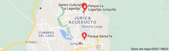 Mapa de Santa Fe Juriquilla and La Lagartija parks